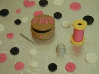 Sewing Theme Cake Toppers
